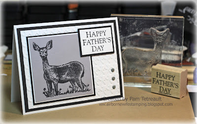 airbornewife stampin up ctmh herringbone doe father's day rubber stamping