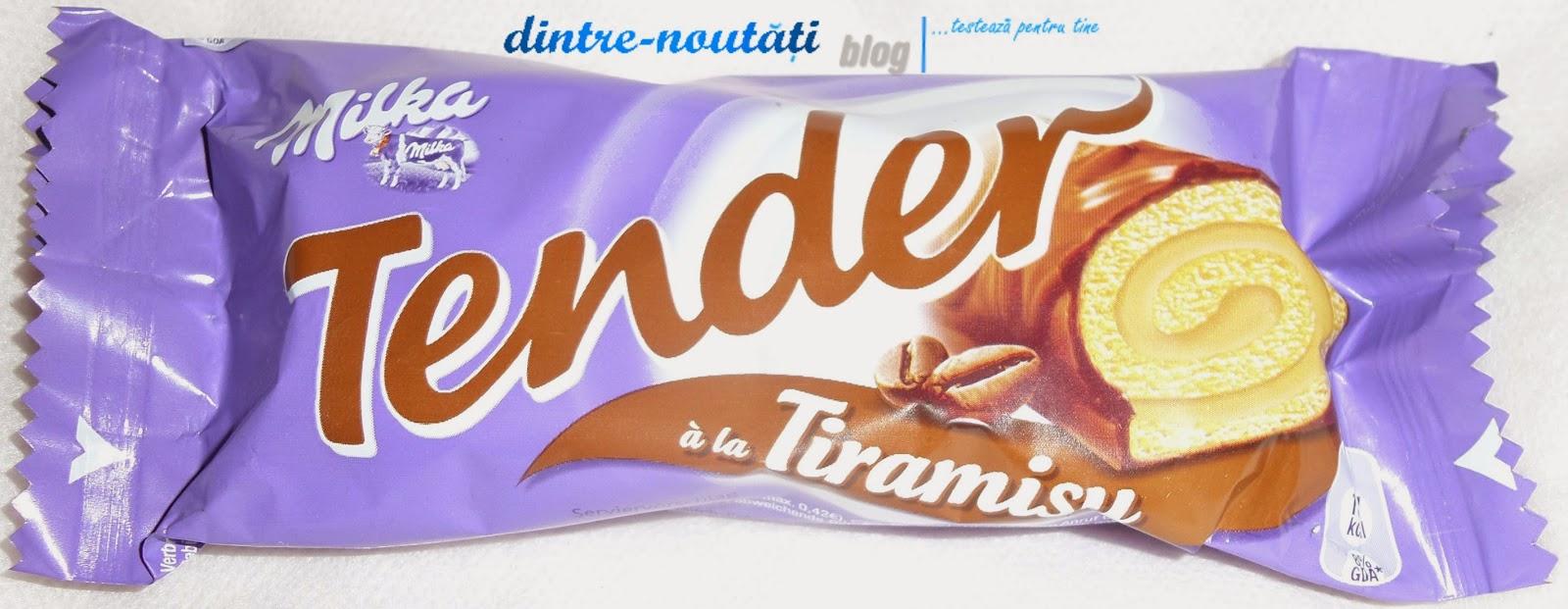 Ruladă cu cremă de tiramisu învelită în ciocolată cu lapte din Alpi