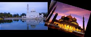 Masjid Kristal dan Masjid Terapung  5 km