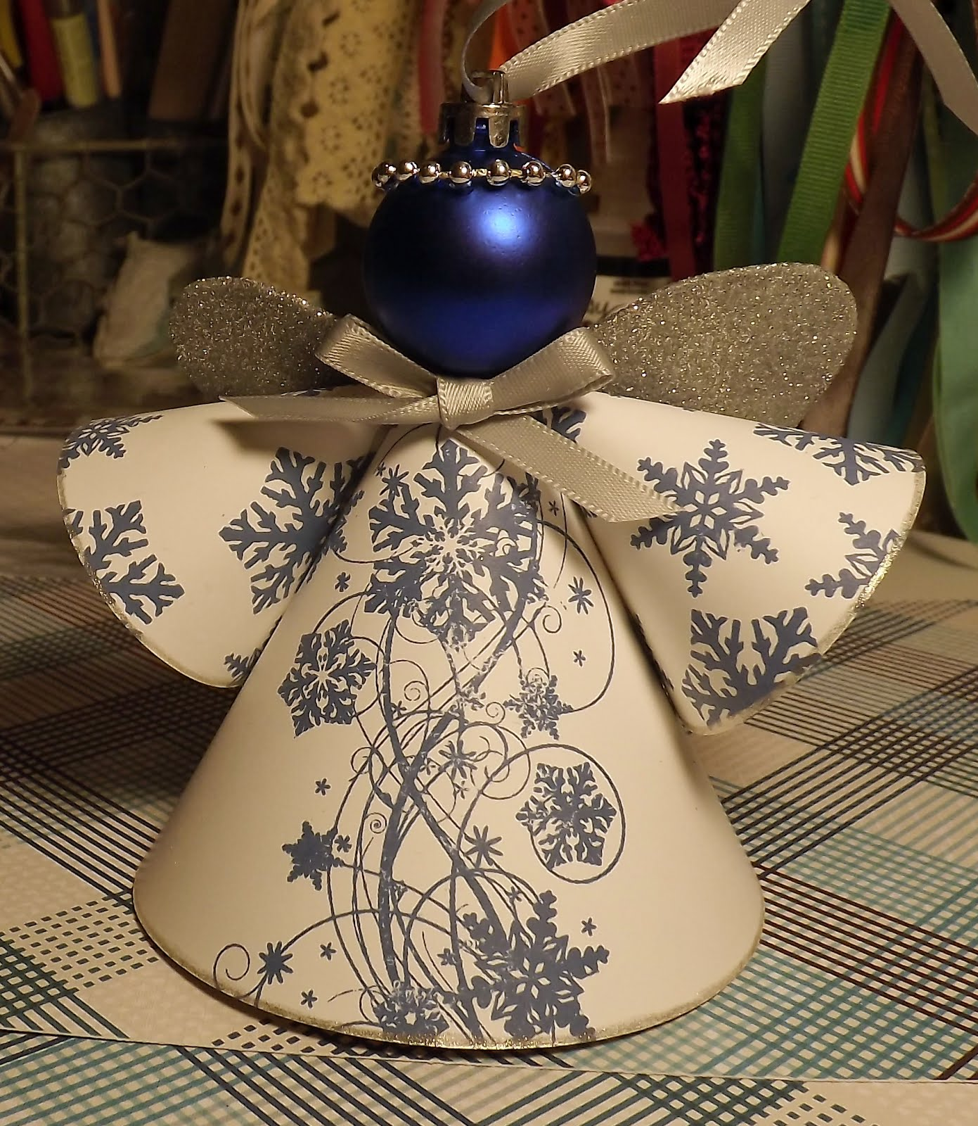 Paperie petals christmas angel for Angel decoration