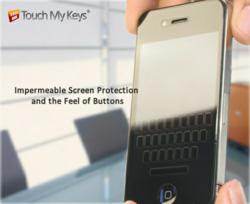 iPhone 4S Screen Protector with Invisible Keyboard - Touch My Keys