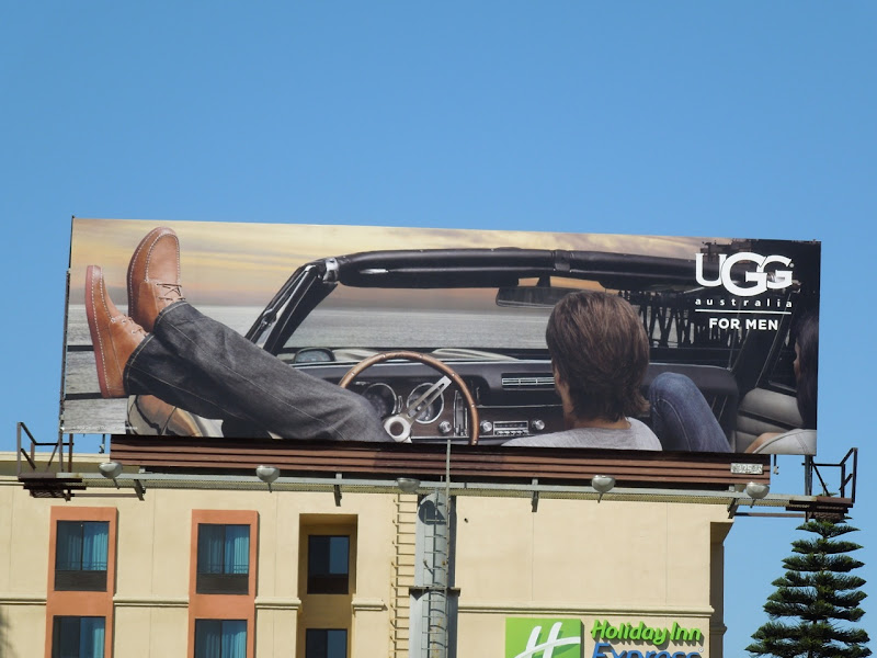 Men's UGG shoes billboard