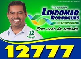 Quem vota em Dr. Vilmar 12, tira pelos menos um voto para Lindomar 12777