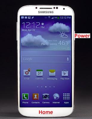 Capture d'écran sur Galaxy S4