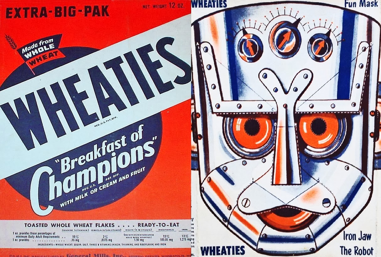 1947 Iron Jaw Robot Wheaties Cereal Box u003d $125.00  sc 1 st  Cereal Box Price Guide Cereal Box Collecting #pezoutlaw #hollywood ... & Cereal Box Price Guide Cereal Box Collecting #pezoutlaw #hollywood ... Aboutintivar.Com