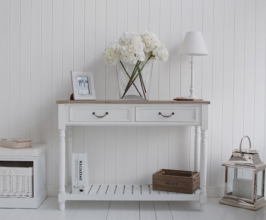 Provence White Hallway Console table
