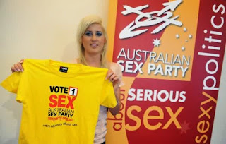Gila, Ada Partai Politik Bernama Australian Sex Party Di Negara Australia
