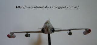 maqueta en miniatura del Lockheed P-80/F-80 Shooting Star