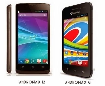 HP Android Terbaru Smartfren Andromax G dan Andromax i2