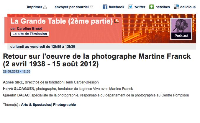 Hervé Gloaguen, Invité De Lu0027émission LA GRANDE TABLE, Deuxième Partie (France  Culture)