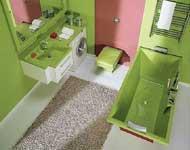 desain kamar mandi hijau