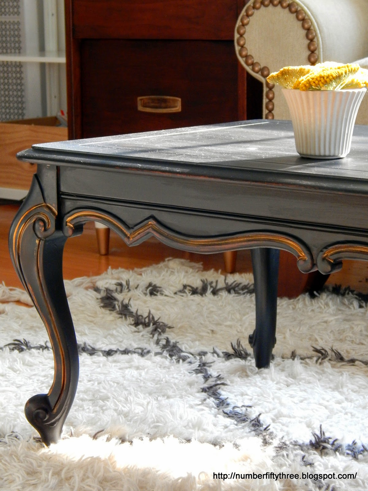 Number Fifty Three Classic Black & Gold Coffee Table