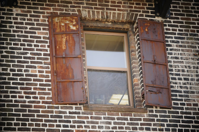 Old rusty windows royalty free picture