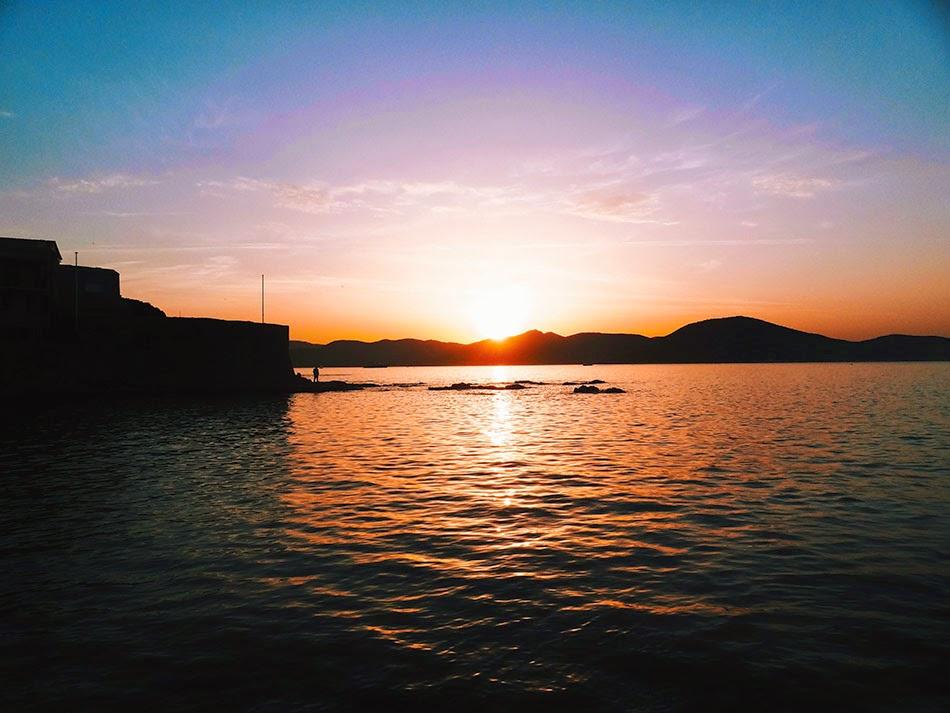 coucher de soleil Saint Tropez
