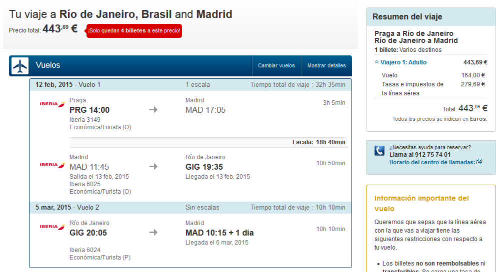 Brasil barato desde Madrid y Praga