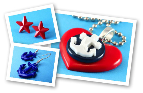 Nautical Anchor Earrings & Necklace