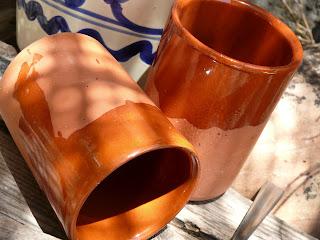spanish terracotta coffee mugs