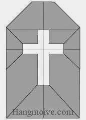 Bước 10: Hoàn thành cách xếp tấm bia, ngôi mộ Halloween bằng giấy theo phong cách origami.