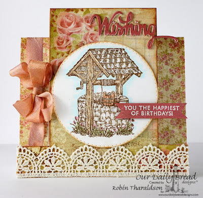 Our Daily Bread Designs Stamp Sets:Wishing Well, Wishing Words, Our Daily Bread Designs Paper Collection: Blushing Rose, Fun & Fancy Folds Center Step, Our Daily Bread Designs Custom Dies: Wishing, Double Stitched Circles