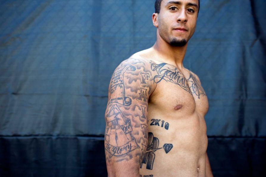 Colin kaepernick for Nfl tattoos gallery