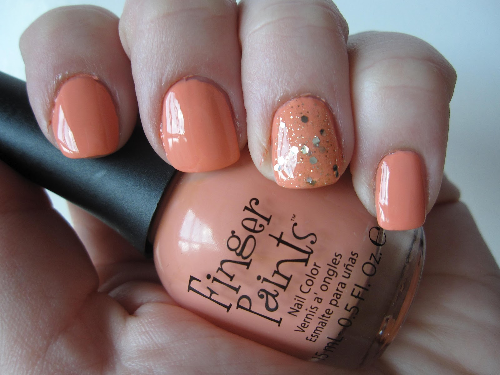 Mani: Finger Paints Circus Peanuts - At the Pink of Perfection