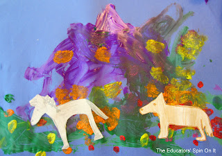 Toddler Purple Mountain Painting Craft