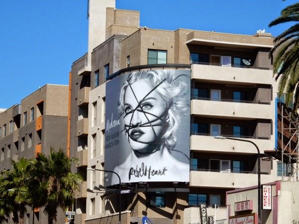 Madonna Rebel Heart billboard Hollywood