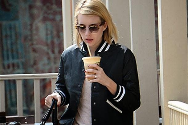 Tortoise Shell Glasses Flatter Emma Roberts's Rocker Style