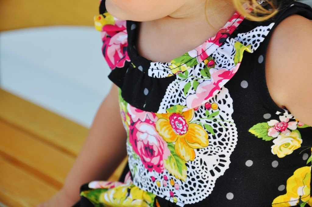 The Ella Dress Pattern by Living with Punks in Size 2T