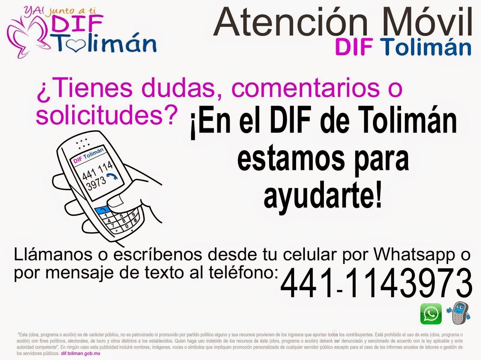Atención Móvil Automatizada del DIF Tolimán.