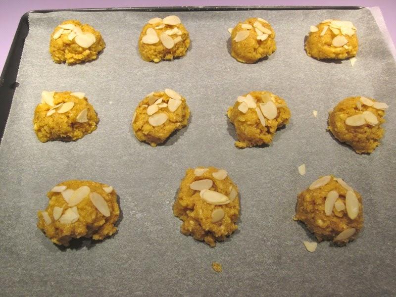 Cookies sans gluten à l'orange et à la polenta