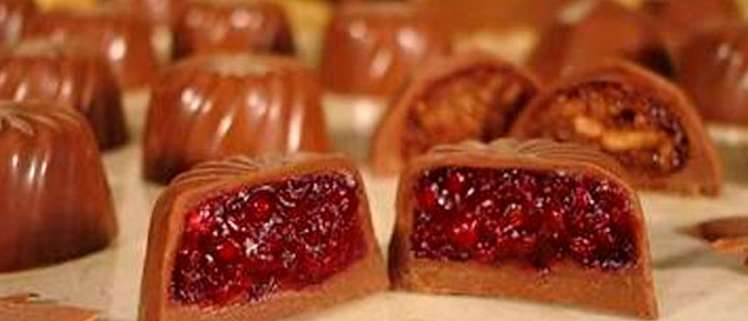 Trufas de frutas vermelhas diet