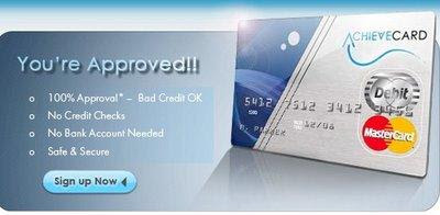 www.achievecard.com: Easy to get Prepaid credit card Quickly