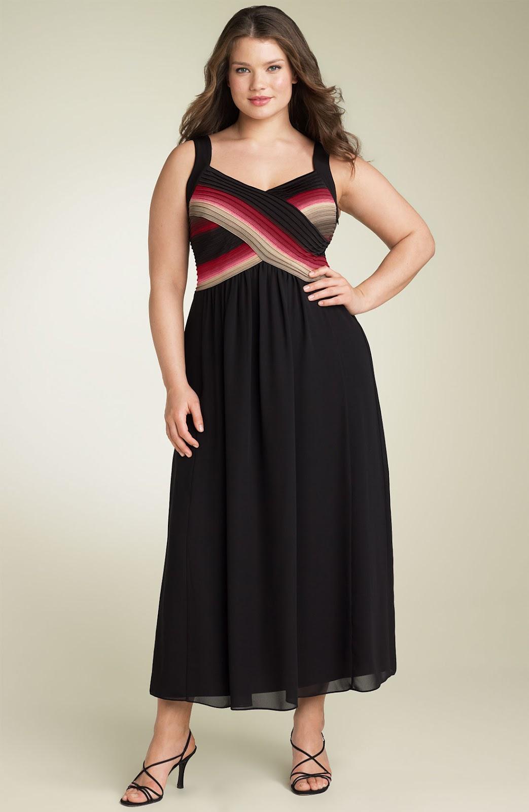 Красивое платье на полной женщине