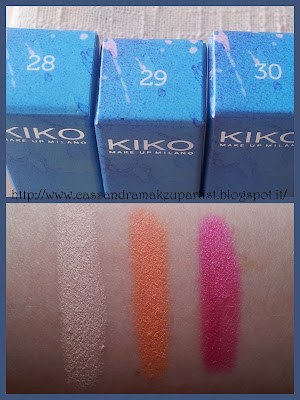 KIKO - Long Lasting Stick Eyeshadow  Color in the world - swatch - inci - prezzo - 28 - 29 - 30 - recensione - review