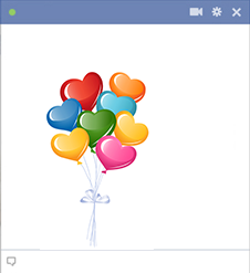Colorful hearts for Facebook
