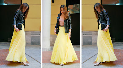 Yellow Pleated Skirt 2