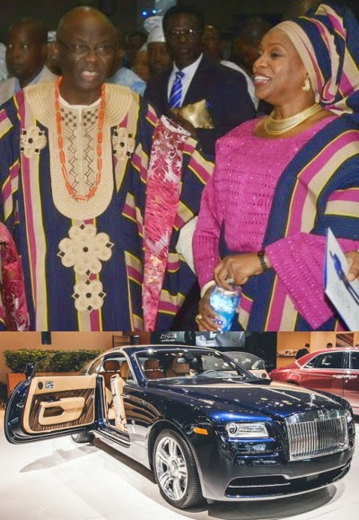 tunde bakare roll royce birthday gift