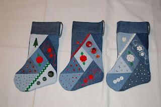 julstrumpor av jeans 2, återbruk