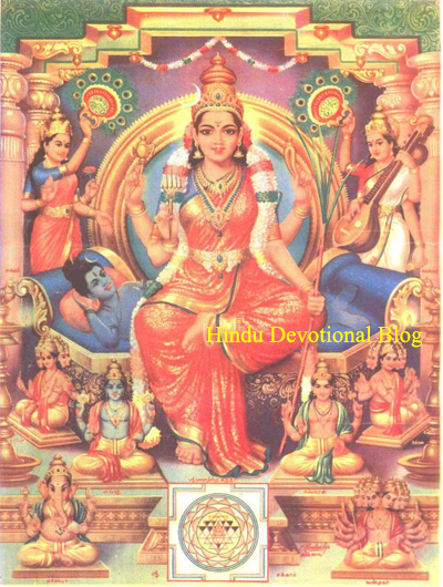 Picture of Goddess Lalita Tripurasundari