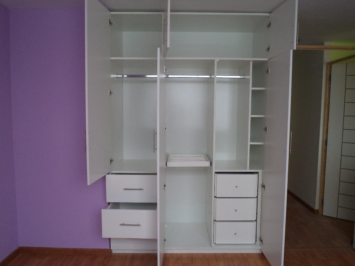 Muebles de Melamina Closet para Dormitorio en Melamina Blanca