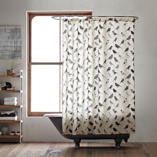 Pierce + Stacy Thiot: Shower Curtain/Window Panel