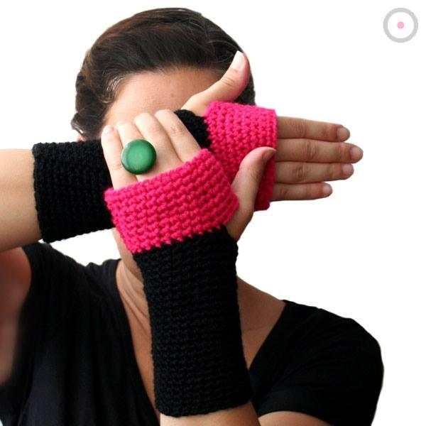 Accesorios tejidos invernales: cuello, guantes, bandas ...