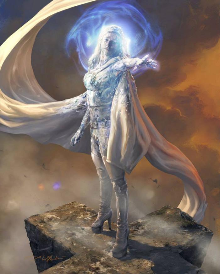 Emma Frost por Aleksi Briclot