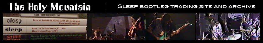 The Holy Mountain - Sleep Bootlegs