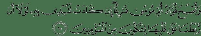 Surat Al Qashash ayat 10