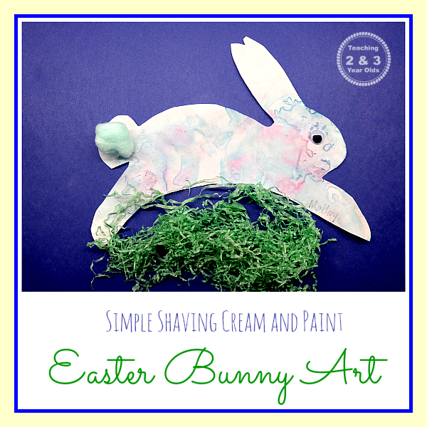 Teaching 2 and 3 Year Olds:  Fine Motor Easter Bunny Art