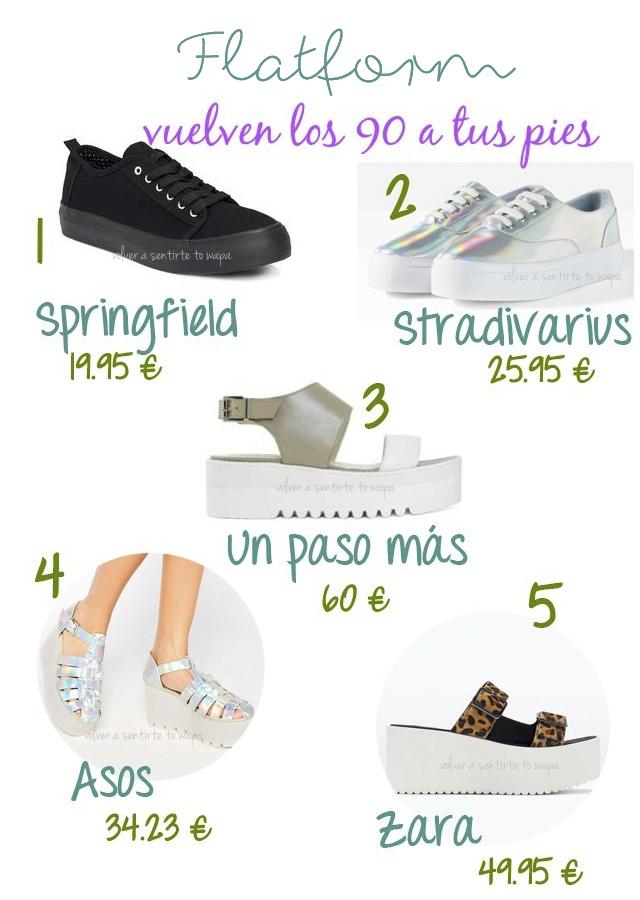 Zapatos o Sandalias Flatform, vuelven los 90 a tus pies