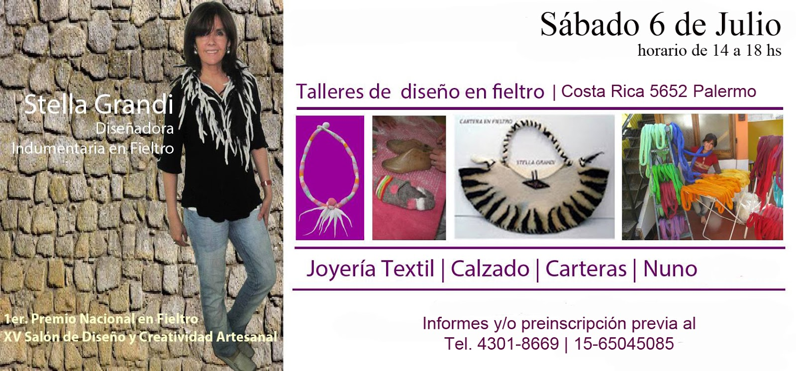 TALLER DE FIELTRO SABADO 6 de Julio