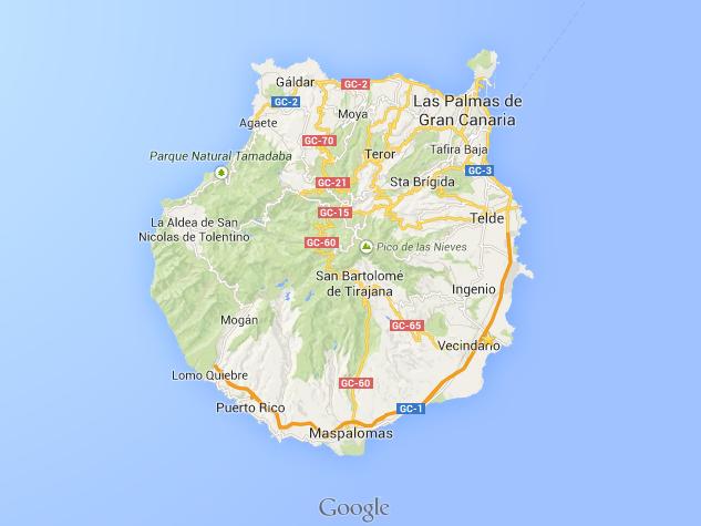 Mapa capital las palmas de gran canaria - Capital de las palmas ...